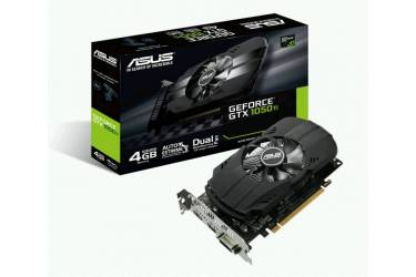 Видеокарта Asus PCI-E PH-GTX1050TI-4G nVidia GeForce GTX 1050TI 4096Mb 128bit GDDR5 1290/7008 DVIx1/HDMIx1/DPx1/HDCP Ret