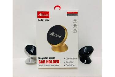 Автодержатель магнитный Allison ALS-H362 к панели 360* серебро