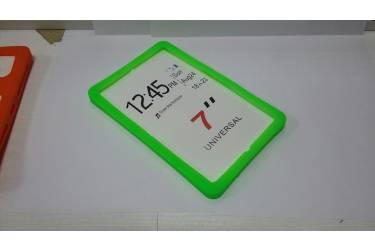 Универсальная силиконовая накладка на планшет 7 зеленый с подставкой