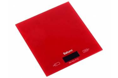 Весы кухонные электронные Saturn ST-KS7810 Red стекло 5кг