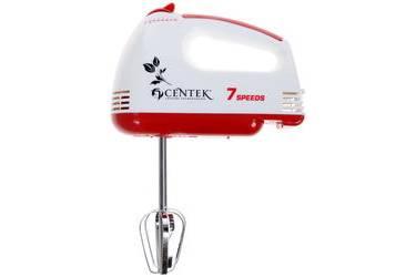 Миксер ручной Centek CT-1111 RED (белый/красный 170Вт, 6 скоростей+турбо, взбивание/замешивание