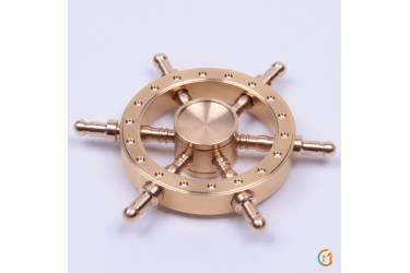Спиннер антистресс металлический, арт 009956 (Золотой)