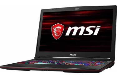 "Ноутбук MSI GL63 8SC-210RU Core i7 8750H/8Gb/1Tb/SSD128Gb/nVidia GeForce GTX 1650 4Gb/15.6""/FHD (1920x1080)/Windows 10/black/WiFi/BT/Cam"