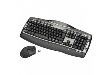 Комплект клавиатуара+мышь Intro Wireless Multimedia CW202M черо-серый