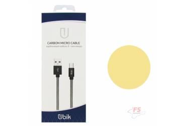 Кабель USB Ubik micro UM01 Carbon 2A (1,2m) gold