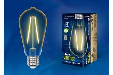 Лампа светодиодная Vintage LED-ST64-4W/GOLDEN/E27 GLV22GO форма конус