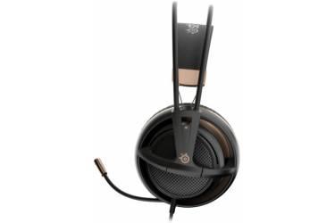 Наушники с микрофоном Steelseries Siberia 200 Alchemy Gold черный/бронзовый 1.8м мониторы оголовье (51134)