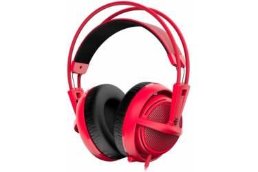 Наушники с микрофоном Steelseries Siberia 200 Forged Red красный 1.8м мониторы оголовье (51135)