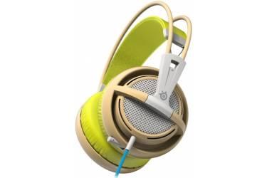 Наушники с микрофоном Steelseries Siberia 200 Gaia Green зеленый/бежевый 1.8м мониторы оголовье (51137)