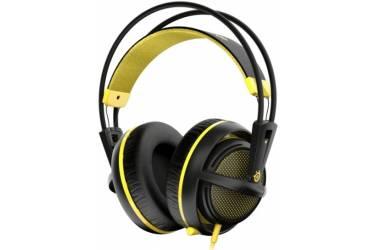 Наушники с микрофоном Steelseries Siberia 200 Proton Yellow желтый/черный 1.8м мониторы оголовье (51138)