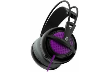 Наушники с микрофоном Steelseries Siberia 200 Sakura Purple пурпурный/черный 1.8м мониторы оголовье (51136)