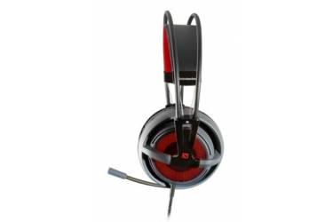 Наушники с микрофоном Steelseries Siberia v2 Dota2 Edition черный/красный 1м накладные оголовье (51143)