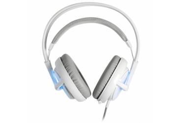 Наушники с микрофоном Steelseries Siberia v2 Frost Blue белый/голубой 0.9м мониторы оголовье (51125)
