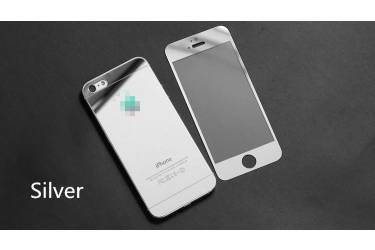Защитное 3D стекло Glass на iPhone 6+ Silver/White