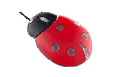 Компьютерная мышь Perfeo Божья Коровка PF-210-OP-RD USB черно-красная