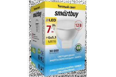 Светодиодная (LED) Лампа Smartbuy-Gu5,3 - 12 ВОЛЬТ!!! / 12V-07W/3000