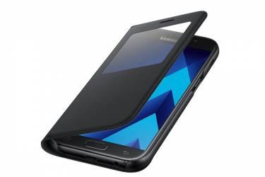Оригинальный чехол (флип-кейс) для Samsung Galaxy A5 (2017) S View Standing Cover черный (EF-EF-CA520PBEGWW)