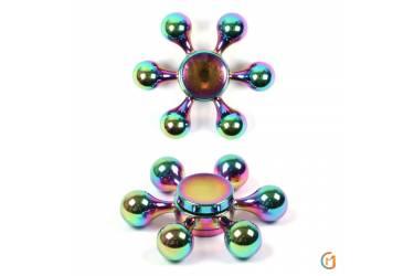 Спиннер металлический цветной хром, арт 009926