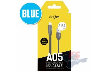 Кабель USB Dotfes A05 Lightning (1m) blue