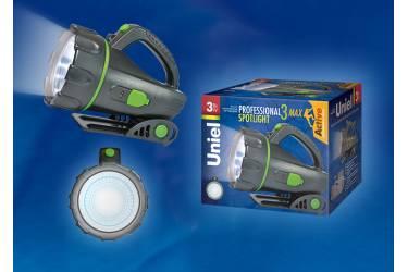 Фонарь Uniel S-SL011-BA Black 3 Watt LED 3.6V 1200mA Ni-MH battery в/к черный