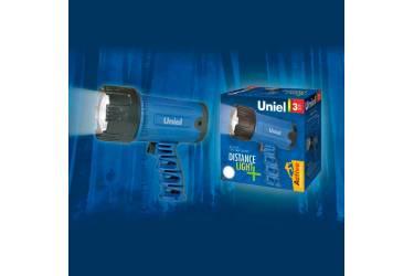 Фонарь Uniel S-SL016-BB Blue прорезин корпус 3W LED 4ХС н/к синий