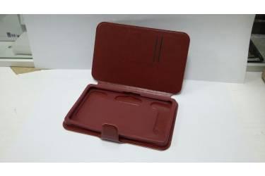 Универсальный чехол + силиконовая накладка на планшет 8 коричневая