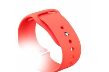 Ремешок Smart Apple Watch Sport 38 mm силиконовый, красный (упаковка картон)