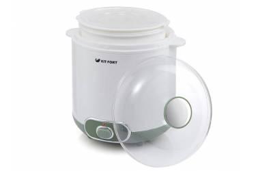 Йогуртница Kitfort KT-2005 20Вт 1б. 1500мл белый/зеленый