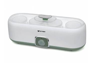 Йогуртница Kitfort KT-2006 20Вт 4б. 180мл белый/зеленый