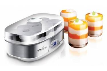 Йогуртница Redmond RYM-M5401 50Вт 8б. 180мл упр.:электрон. серебристый/белый