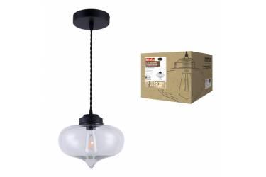 Светильник декоративный подвесной Uniel DLC-V404 E27 BLACK Fametto Vintage металл Ø260*1250