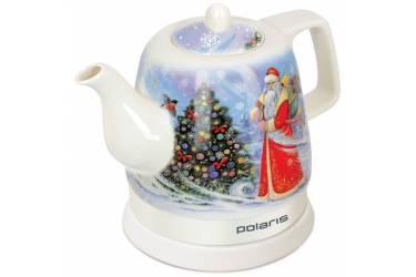 Чайник электрический Polaris PWK1299CCR 1.2л. 1400Вт белый с узором/первый снег (корпус: керамика)