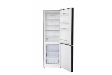 Холодильник Ascoli ADRFB375WG черное стекло 1850x590x650 305л(х214м91)  дисплей No Frost