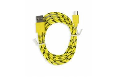 Кабель USB Smartbuy MicroUSB нейлон, длина 1 м, желтый