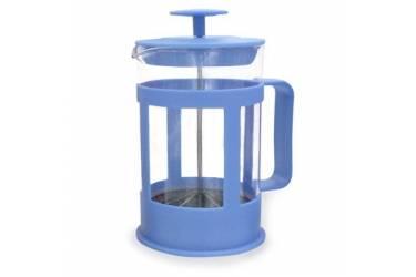 Френч-пресс IRIT FR-085-013 стекло/пластик 0,85л (синий)