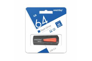 USB флэш-накопитель 64GB SmartBuy IRON Black/Red USB3.0