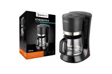 Кофеварка капельная Eurostek ECM-6687 чёрный 1,25л 680Вт колба