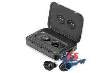 Наушники беспроводные (Bluetooth) Promate PowerBeat с микрофоном + Power Bank 5000mAh (silver)