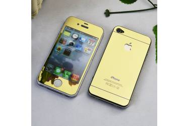 Защитные 2-х сторонние стекла Glass на iPhone 5 Gold