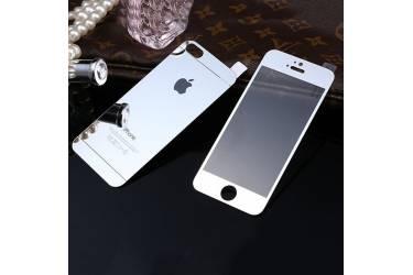 Защитные 2-х сторонние стекла Glass на iPhone 5 Silver
