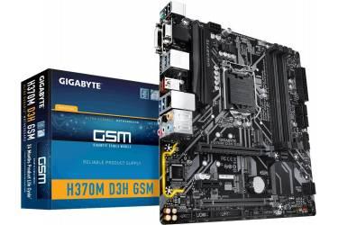 Материнская плата Gigabyte H370M D3H GSM Soc-1151v2 Intel H370 4xDDR4 mATX AC`97 8ch(7.1) GbLAN RAID+VGA+DVI+HDMI