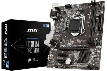 Материнская плата MSI H310M PRO-VDH Soc-1151v2 Intel H310 2xDDR4 mATX AC`97 8ch(7.1) GbLAN+VGA+DVI+HDMI