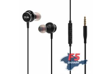 Наушники Ubik UEP-02 внутриканальные c микрофоном (черные)