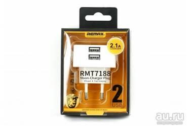 СЗУ адаптер Remax RMT7188 на 2 usb 2,1А розовый