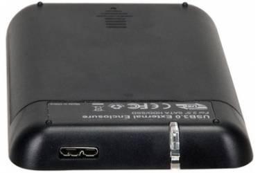 "Внешний корпус для HDD AgeStar 31UB2A8 SATA пластик/алюминий черный 2.5"""