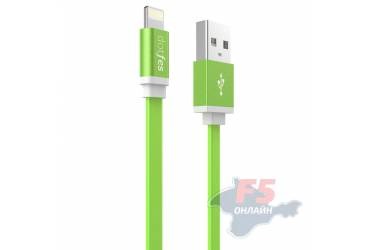 Кабель USB Dotfes A05 Lightning (1m) green