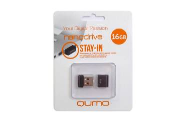 USB флэш-накопитель 16GB Qumo Nano черный USB2.0