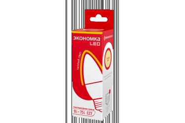 Лампа светодиодная ЭКО_Экономка _C37_9W/3000K_ E27 _СВЕЧА
