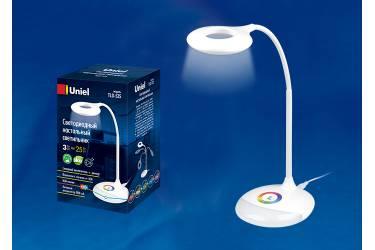 Светильник настольный Uniel LED TLD-535 White/250Lm/5500K/Dimmer 4W. Встроенный аккумулятор 1800mAh