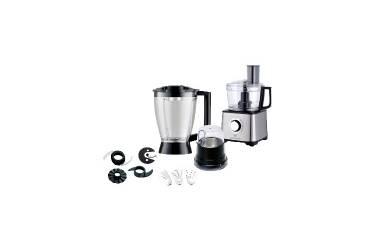 Кухонный комбайн Eurostek EFP-2059 800 Вт чёрный/нержавейка блендер,мельничка,тёрки-шинковки